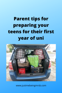 Parent tips for preparing your teens for their first year of uni