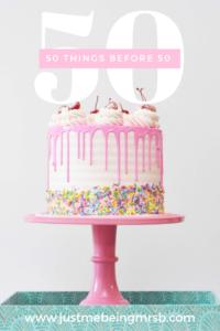 50 things before I'm 50